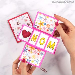 Twist and Pop Mothers Day Card Idea for Kids