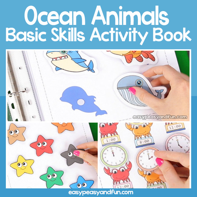 Printable Ocean Animals Quiet Book