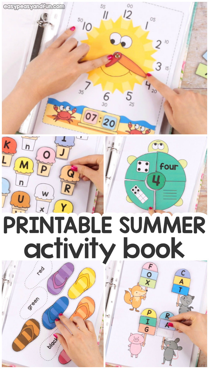 Printable Summer Activity Book for Kids