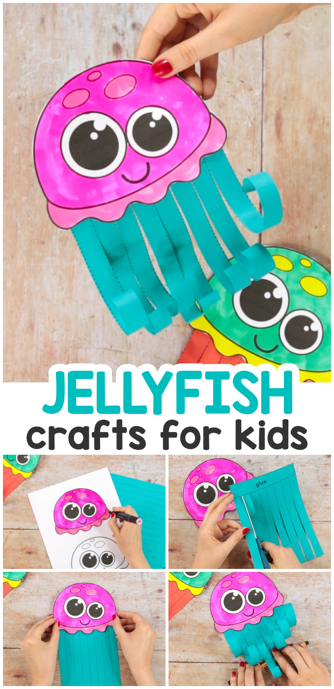 Jellyfish Crafts for Kids With Printable Template