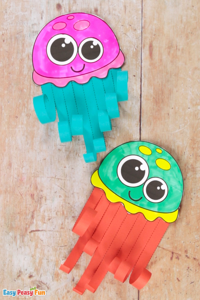 Jellyfish Paper Craft for Kids