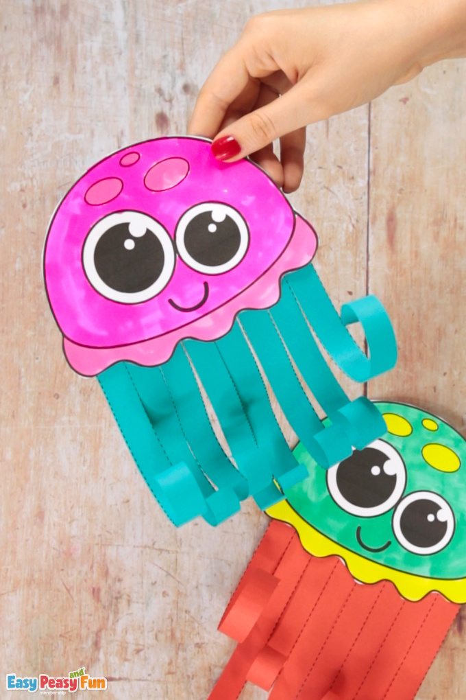 Paper Jellyfish Craft for Kids