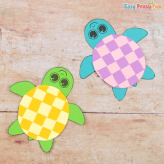 Paper Weaving Turtle Craft