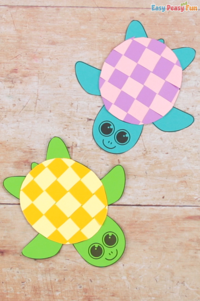 Paper Weaving Turtle Craft Idea