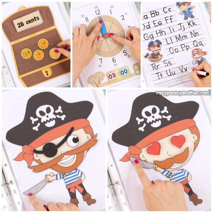 graphic regarding Pirates Printable Schedule identify Printable Pirate Calm E book - Recreation E-book for Preschool