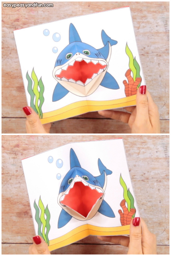 Printable Shark Pop Up Card for Kids