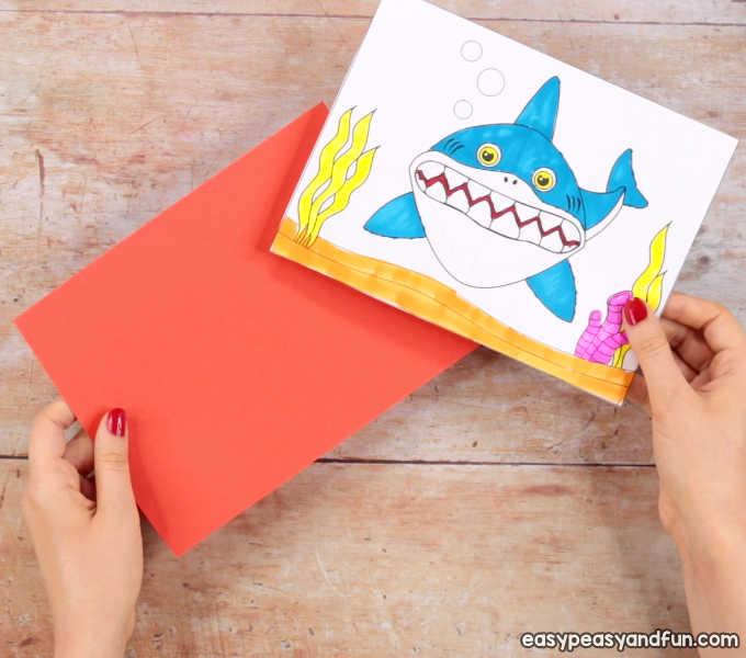 image regarding Printable Pop Up Cards identify Shark Pop Up Card - Straightforward Peasy and Entertaining
