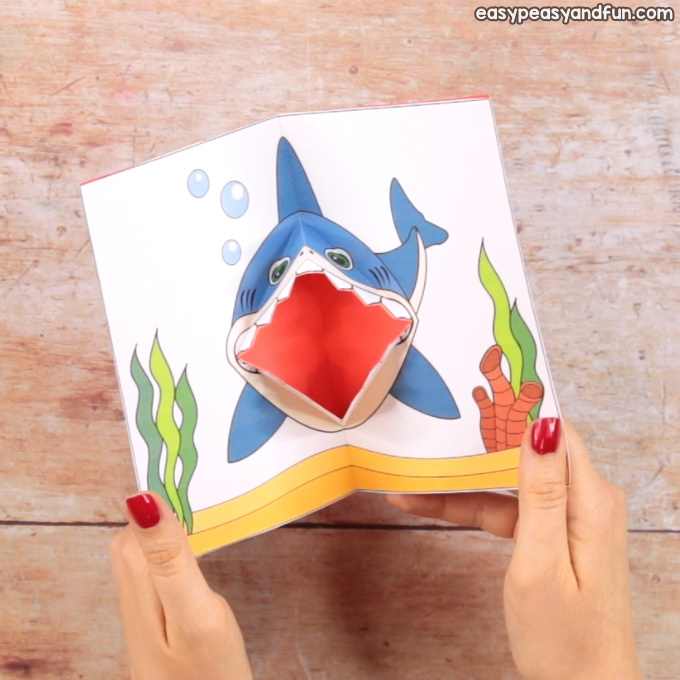 Shark Pop Up Card With Printable Template