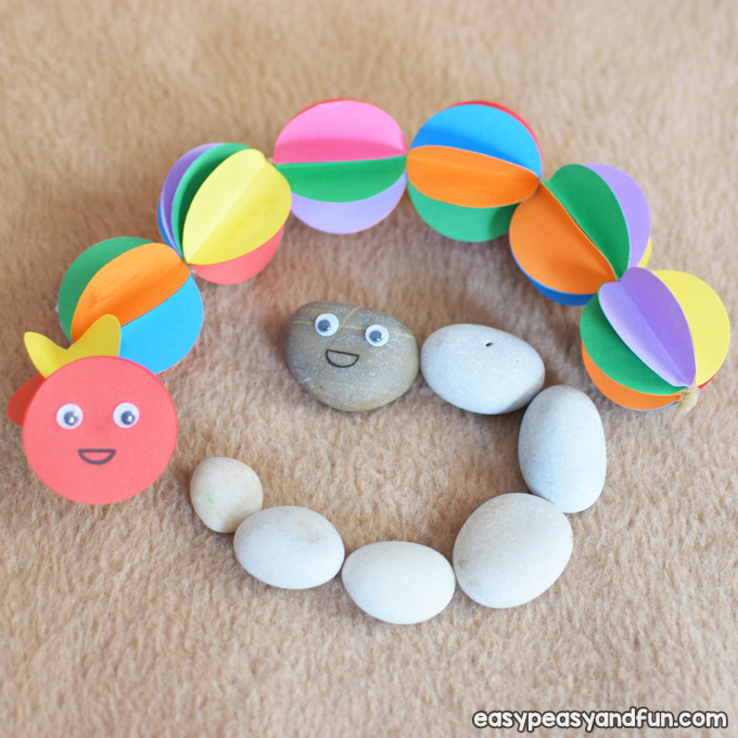 Colorful Paper Caterpillar Craft for Kids