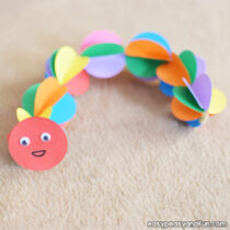 Colorful Paper Caterpillar Craft
