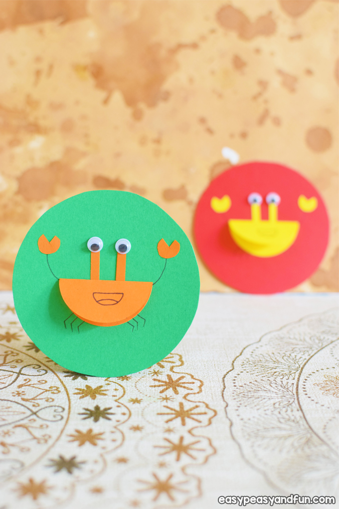 Colorful Paper Crabs Craft for Kids