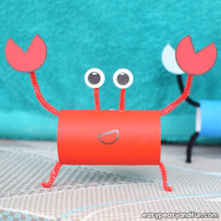 Crab Toilet Paper Roll Craft for Kids to Make