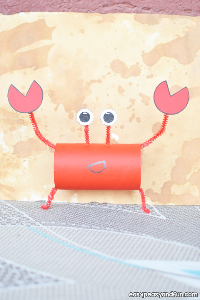 Crab Toilet Paper Roll Craft for Kids