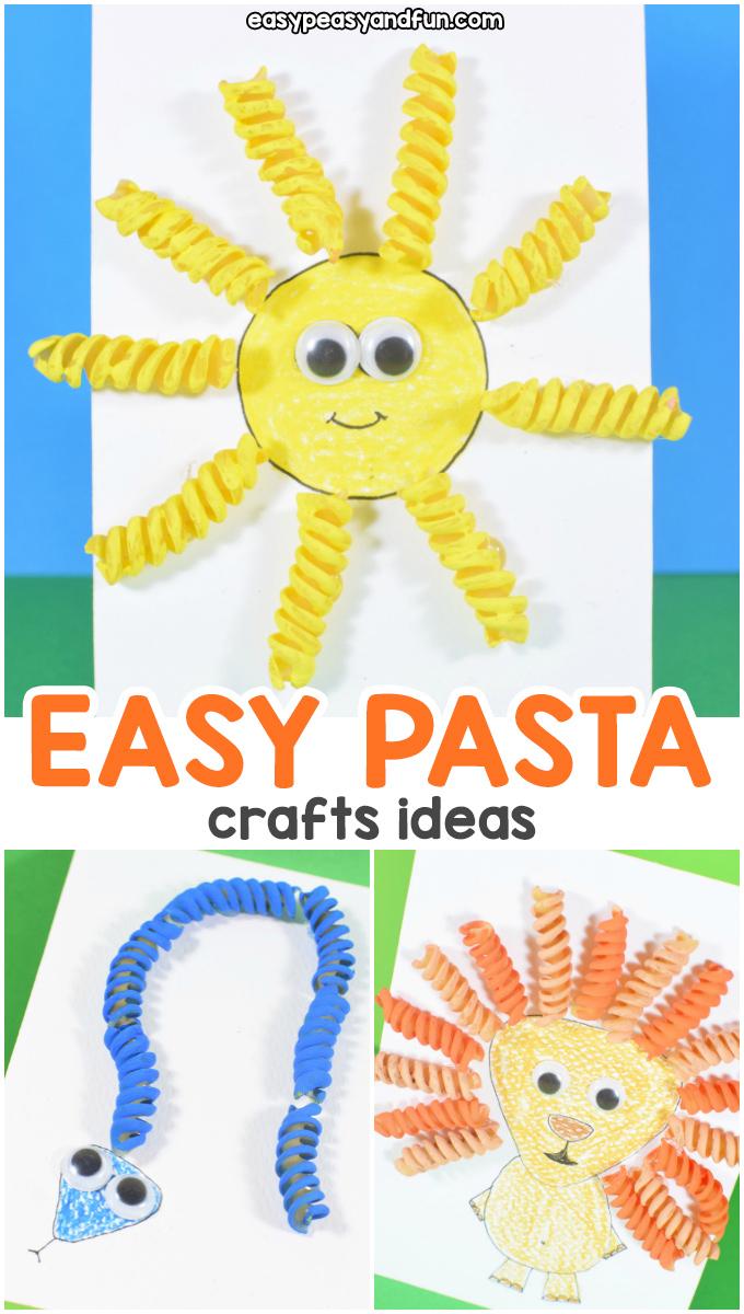 Easy Pasta Crafts Ideas