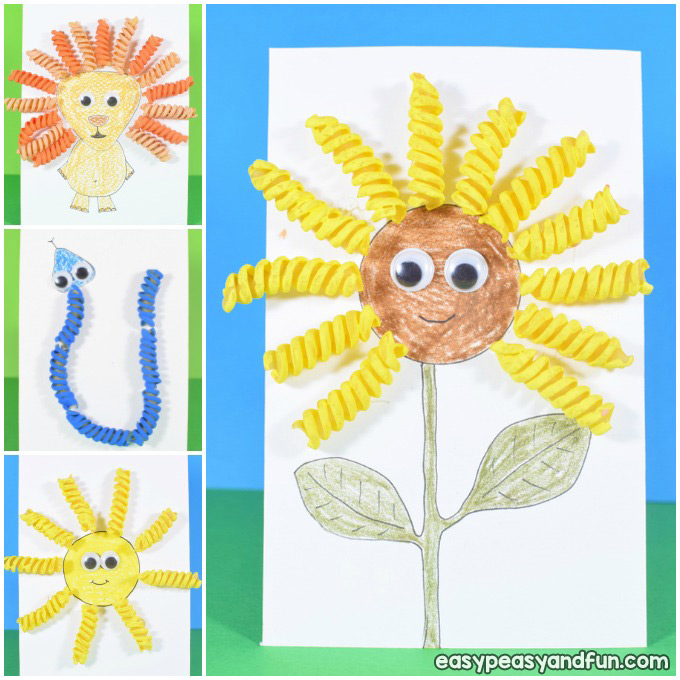 Easy Pasta Crafts Ideas for Kids