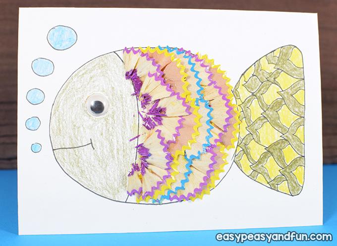 Fish Pencil Shaving Art for Kids