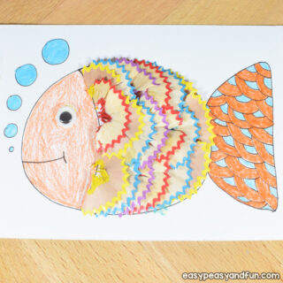 Fish Pencil Shaving Art for Kids