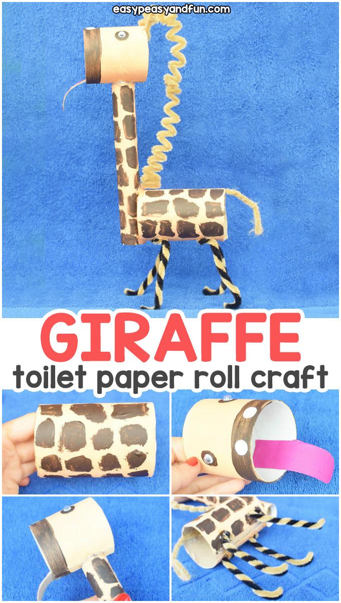 Giraffe Toilet Paper Roll Craft