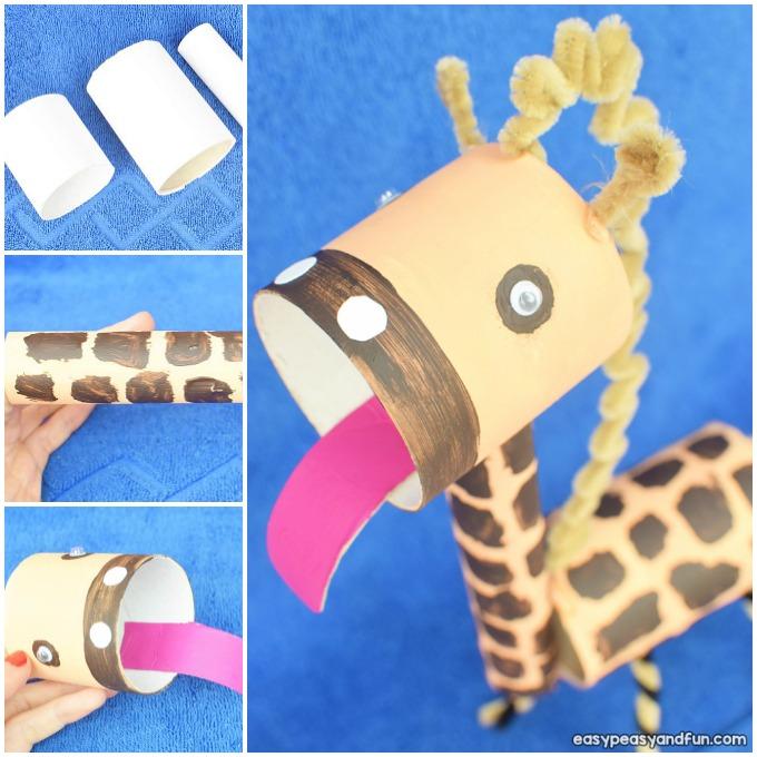 Giraffe Toilet Paper Roll Craft Idea