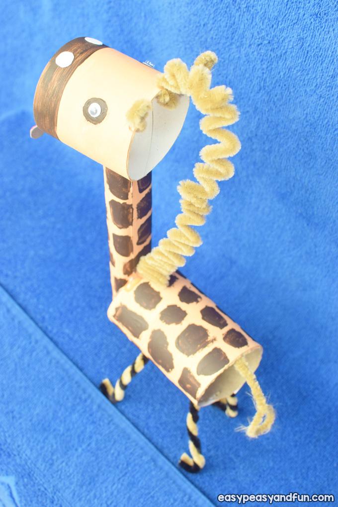 Giraffe Toilet Paper Roll Craft for Kids