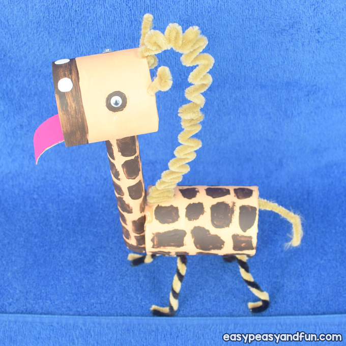 Giraffe Toilet Paper Roll Craft for Kids to Make