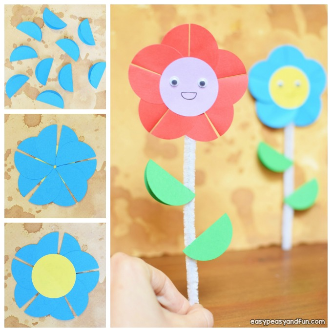 Happy Paper Flower Craft Idea