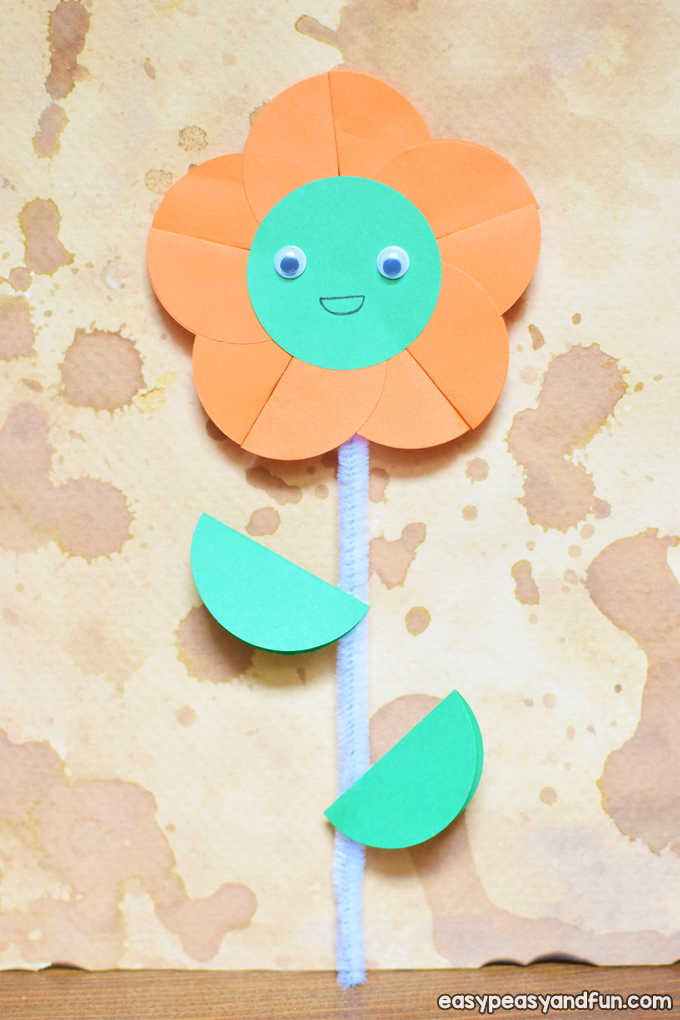 Happy Paper Flower Craft for Kids
