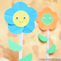 Happy Paper Flower Craft