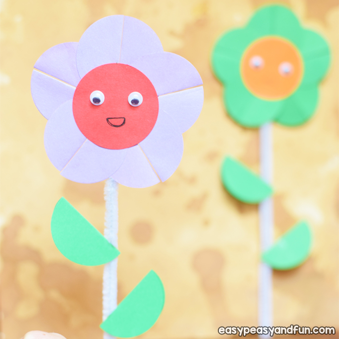 Happy Paper Flower Craft for Kids to Make