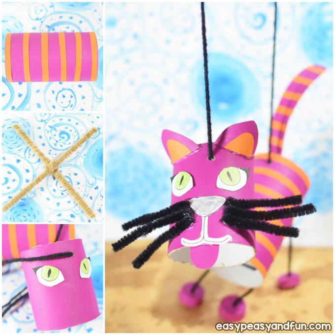 How To Make a Cat Marionette Puppet Craft Idea