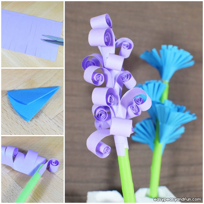 How to Make Easy Paper Flowers Craft Idea