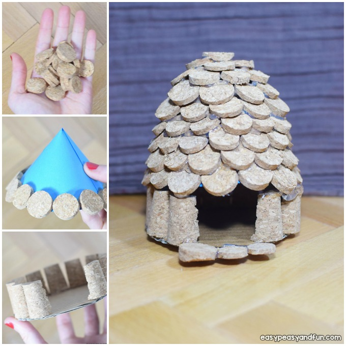How to Make a Cork Fairy House Craft Idea