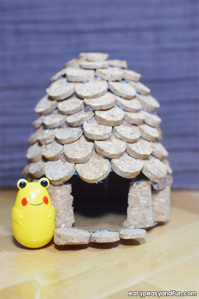 How to Make a Cork Fairy House Craft for Kids
