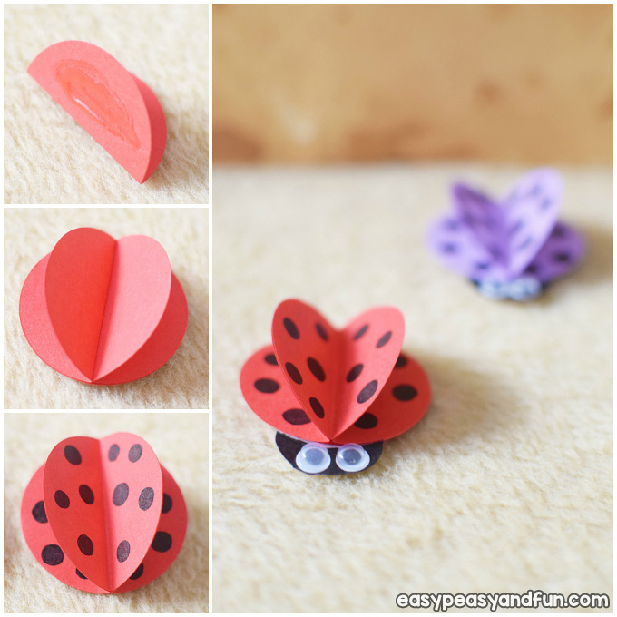 How to Make a Simple Paper Ladybug Idea