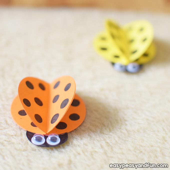 Simple Paper Ladybug Craft for Kids