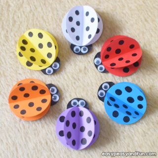 How to Make a Simple Paper Ladybug for Kids