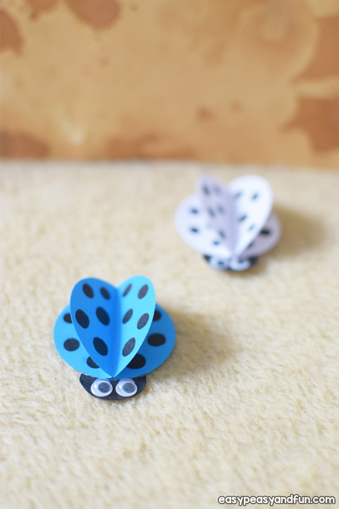 Blue ladybug craft for kindergarten