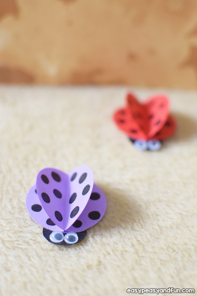 How to Make a Simple Paper Ladybug Craft Idea for Kids