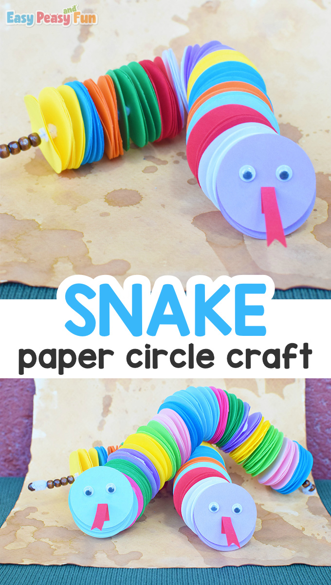Paper Circle Snake Craft for Kids