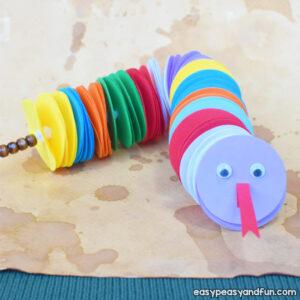 Paper Circles Snake Craft for Kids to Make