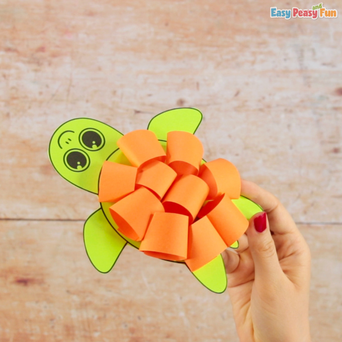 Paper Loops Turtle Craft for Kids