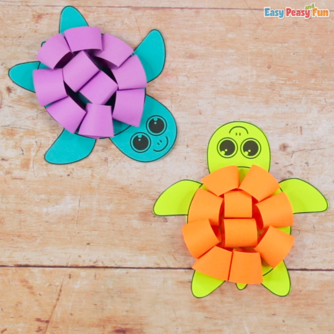 Paper Loops Turtle Craft