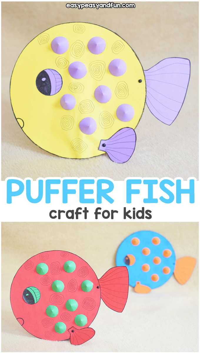 Paper Puffer Fish Craft