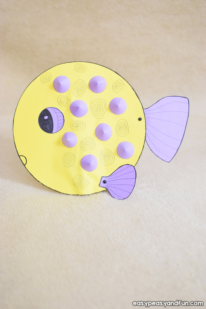 Paper Puffer Fish Craft for Kids