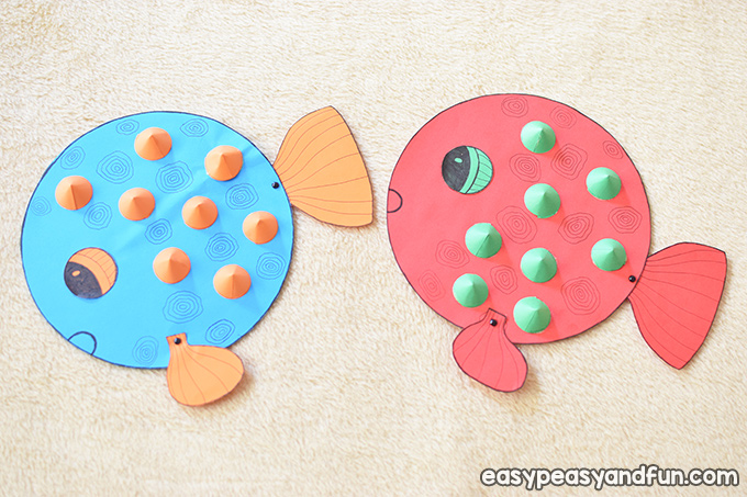 Paper Puffer Fish Craft for Kids to Make
