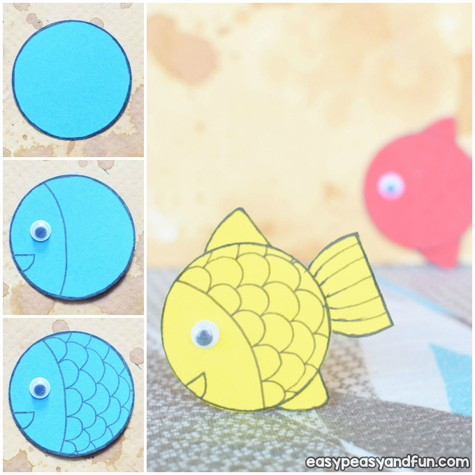 Simple Paper Fish Craft Idea