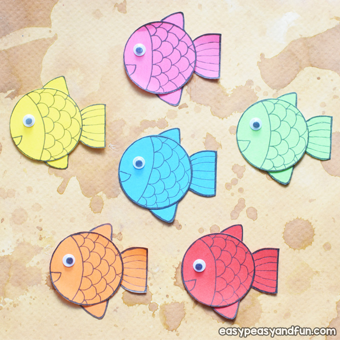Simple Paper Fish for Kids