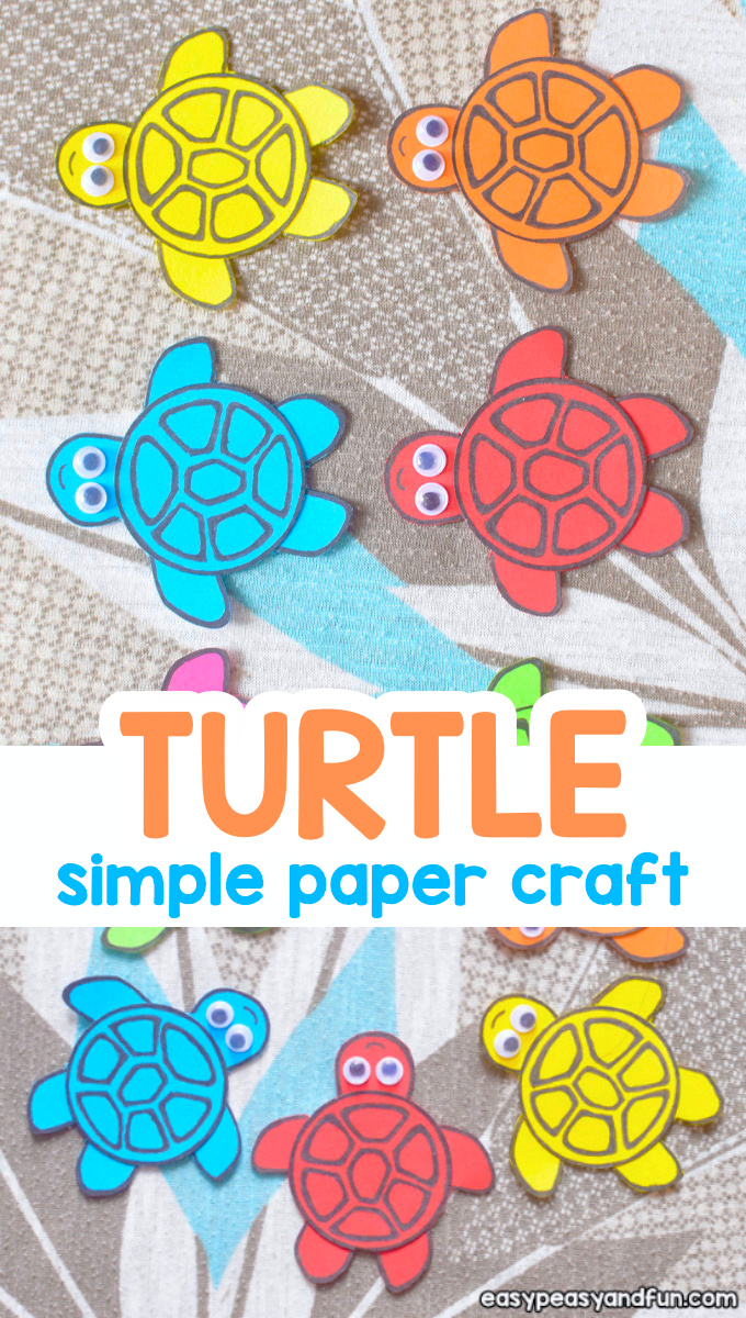 Simple Paper Turtle Craft for Kids