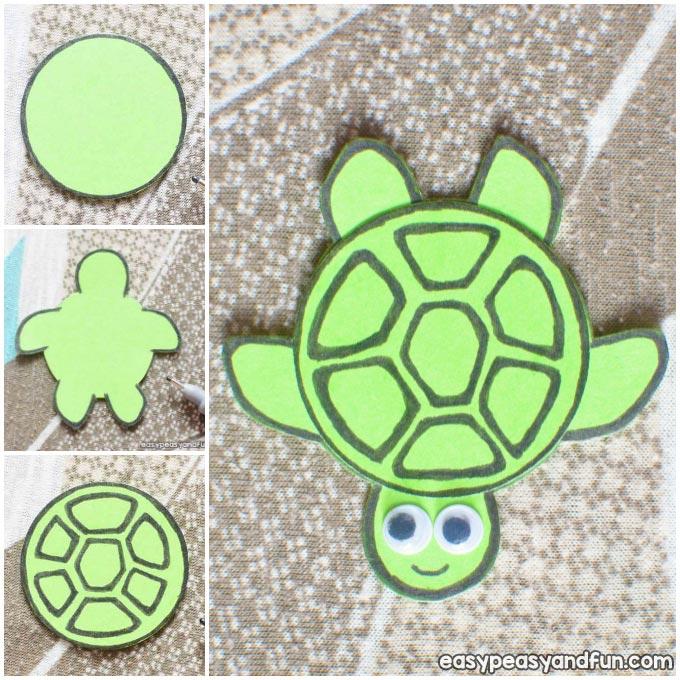 Simple Paper Turtles Craft Idea
