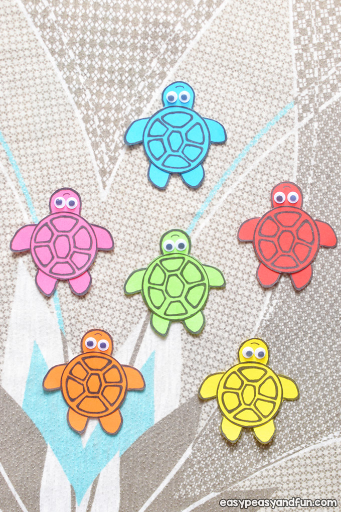 Simple Paper Turtles Craft for Kids